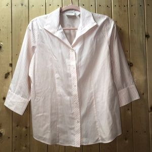 Chico's blouse pink and white stripes Size 1